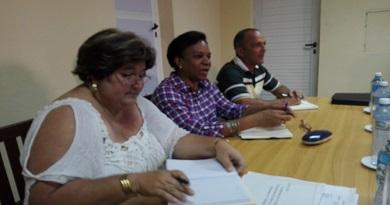 Inés Maria Chapma, vicepresidenta de los Consejos de Estado y de Ministros, en Caibarién