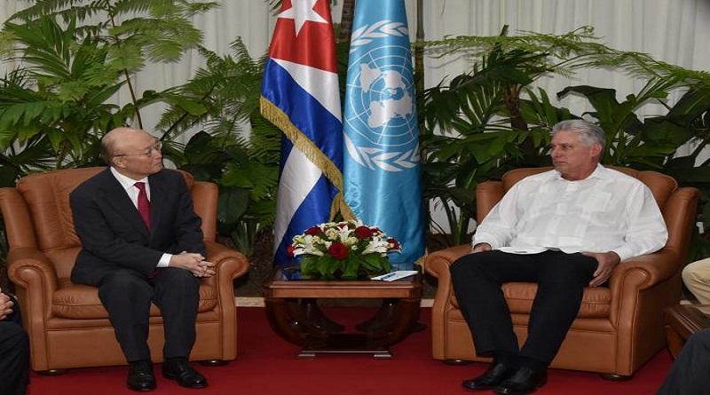 Recibió Díaz-Canel al Director General del Organismo Internacional de la Energía Atómica