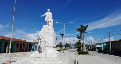 Estatua José Martí en Caibarién, al centro norte de Cuba