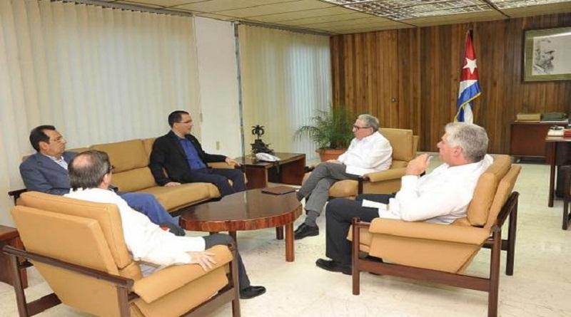 Recibieron Raúl Castro, Díaz-Canel Canciller de Venezuela