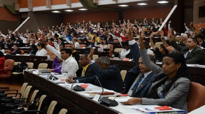 Diputados aprueban Ley de Símbolos Nacionales, en el III período ordinario de sesiones de la IX Legislatura de la Asamblea Nacional del Poder Popular, con sede en el Palacio de Convenciones de La Habana, Cuba, el 13 de julio de 2019. ACN FOTO/Marcelino VÁZQUEZ HERNÁNDEZ/ogm