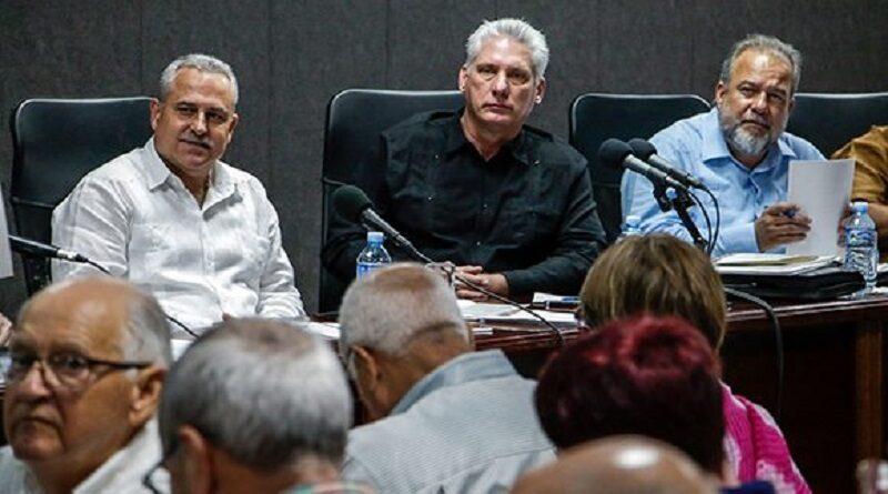 Diaz-Canel en el Balance Anual en el Ministerio de Industrias