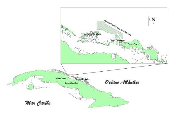 Mapa Caimanes-caibarien