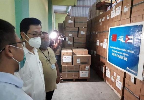 Comenzó distribución de donación china por los hospitales de Cuba