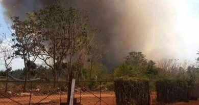 Controlado incendio forestal en Motembo, Corralillo
