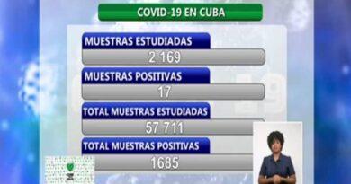 Cuba reporta 17 nuevos casos positivos a la COVID-19