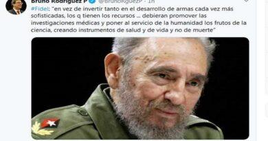 Canciller de Cuba destaca ideas de Fidel Castro a favor de la ciencia