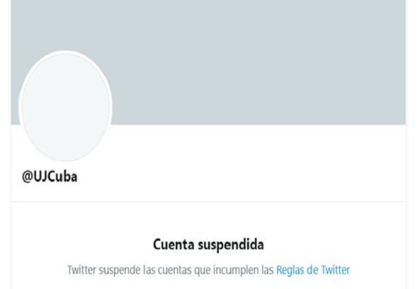 El ensañamiento de Twitter contra la UJC