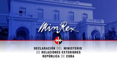 MINREX: Cuba condena el terrorismo y la manipulación política