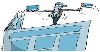 caricatura tomada de vanguardia