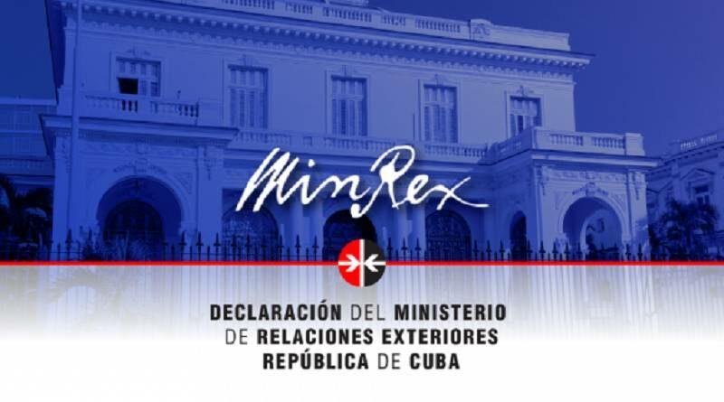Declaración del MINREX