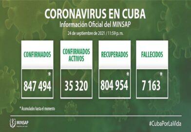 Cuba reporta 7 513 nuevos casos de COVID-19 y 59 fallecidos